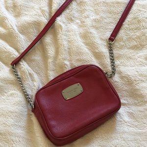 Small Red Cross body Michael Kors purse